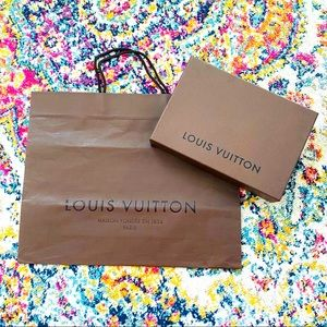 LOUIS VUITTON • Large Bag and Box